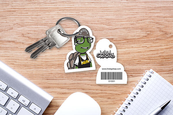 Gift Card with Barcode Key Tag on a Key Ring
