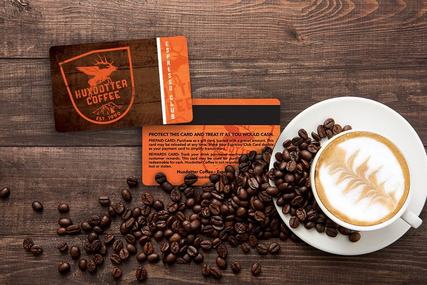 Membership card for a coffee club membership