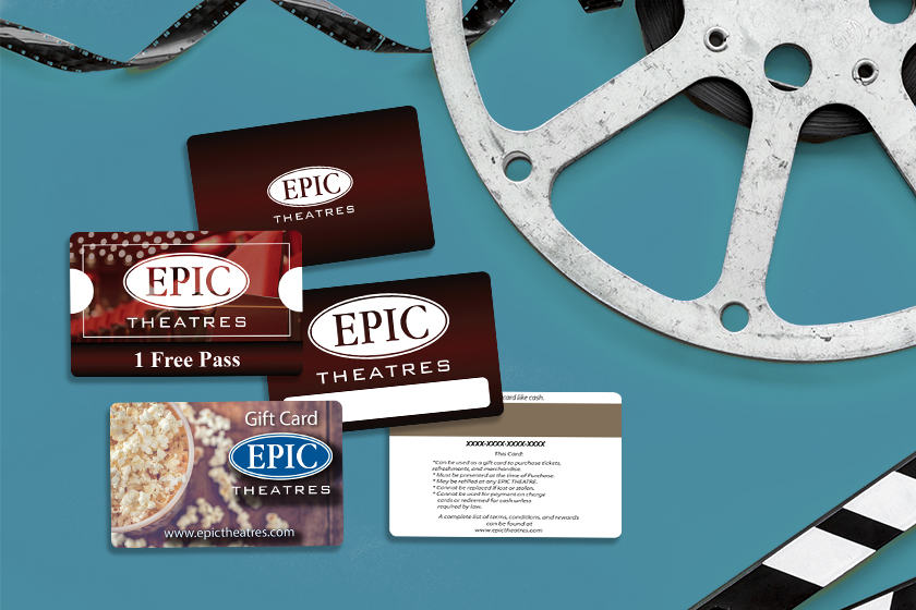 Movie Theater Gift Cards, Promo Cards and Membership Cards For Movie Theatre