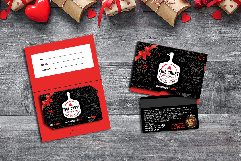 Rewards cards and gift card with gift card holder