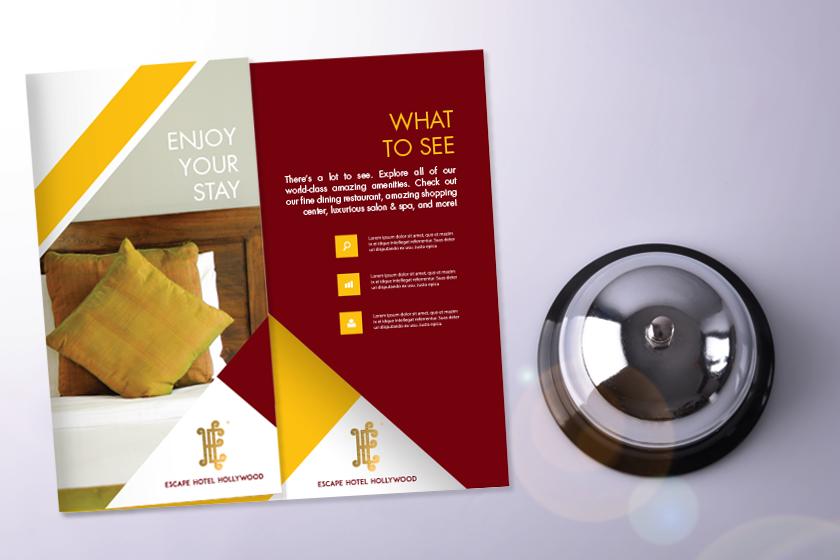 Hotel Brochure In Tri Fold Shape