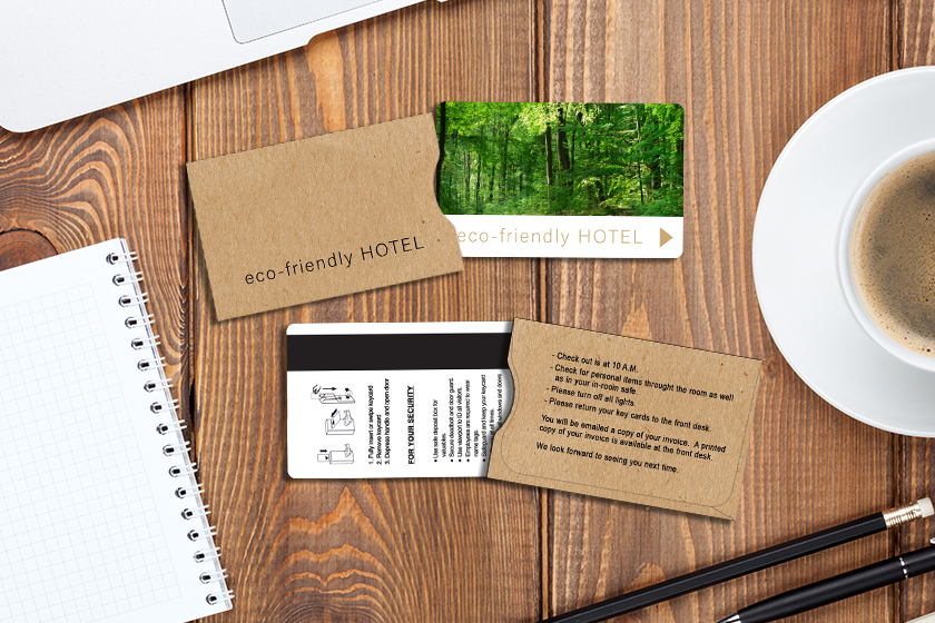 Custom kraft paper hotel key card sleeves