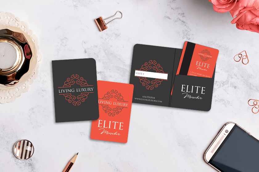 Hotel Key Card Holder with Matching Hotel Room Key