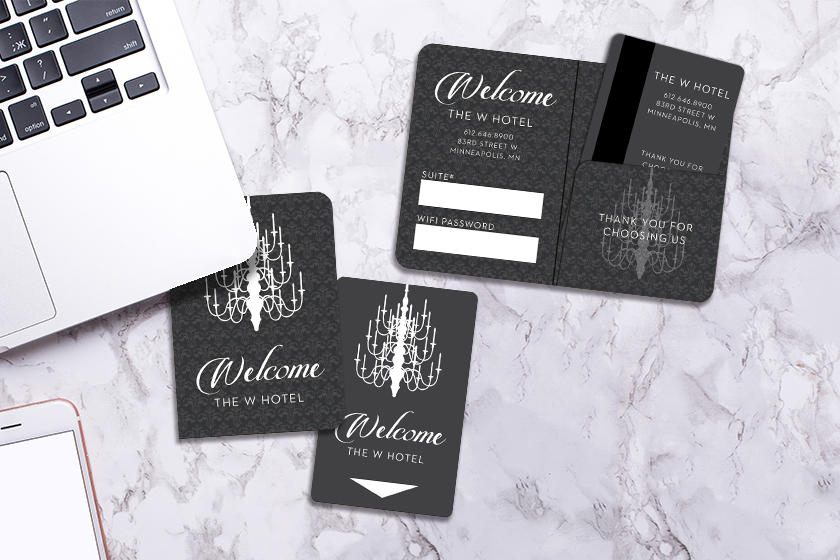 Hotel Key Card and a Matching Key Card Holder