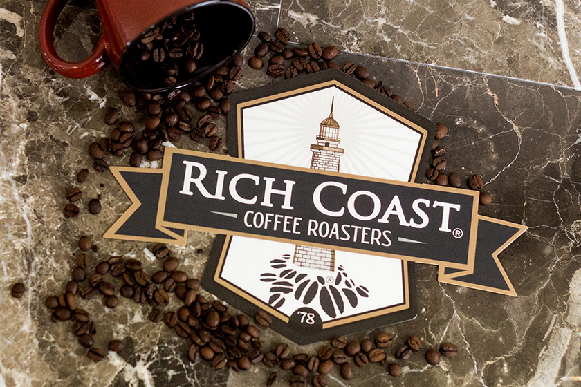 Coffee Coasters for Rich Coast Coffee Roasters