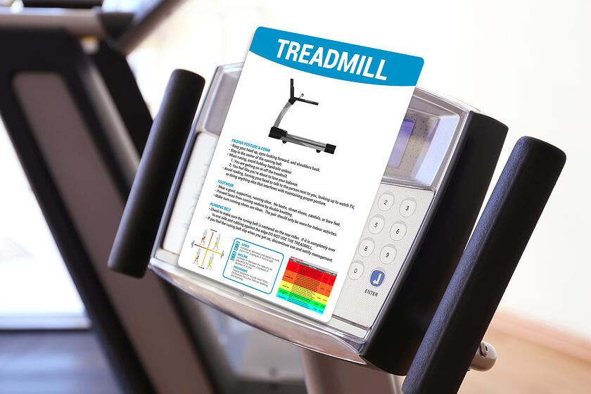 Informational Exercise Instructions for a Treadmill