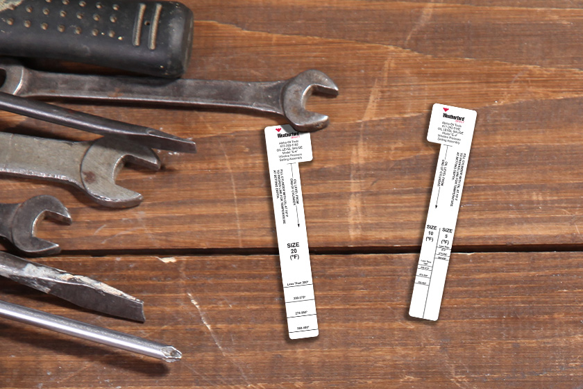 Weatherford's Custom Shape Auto Repair Business Cards