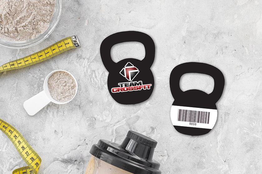 Dumbbell Shaped Gym Membership Card for Team Crossfit