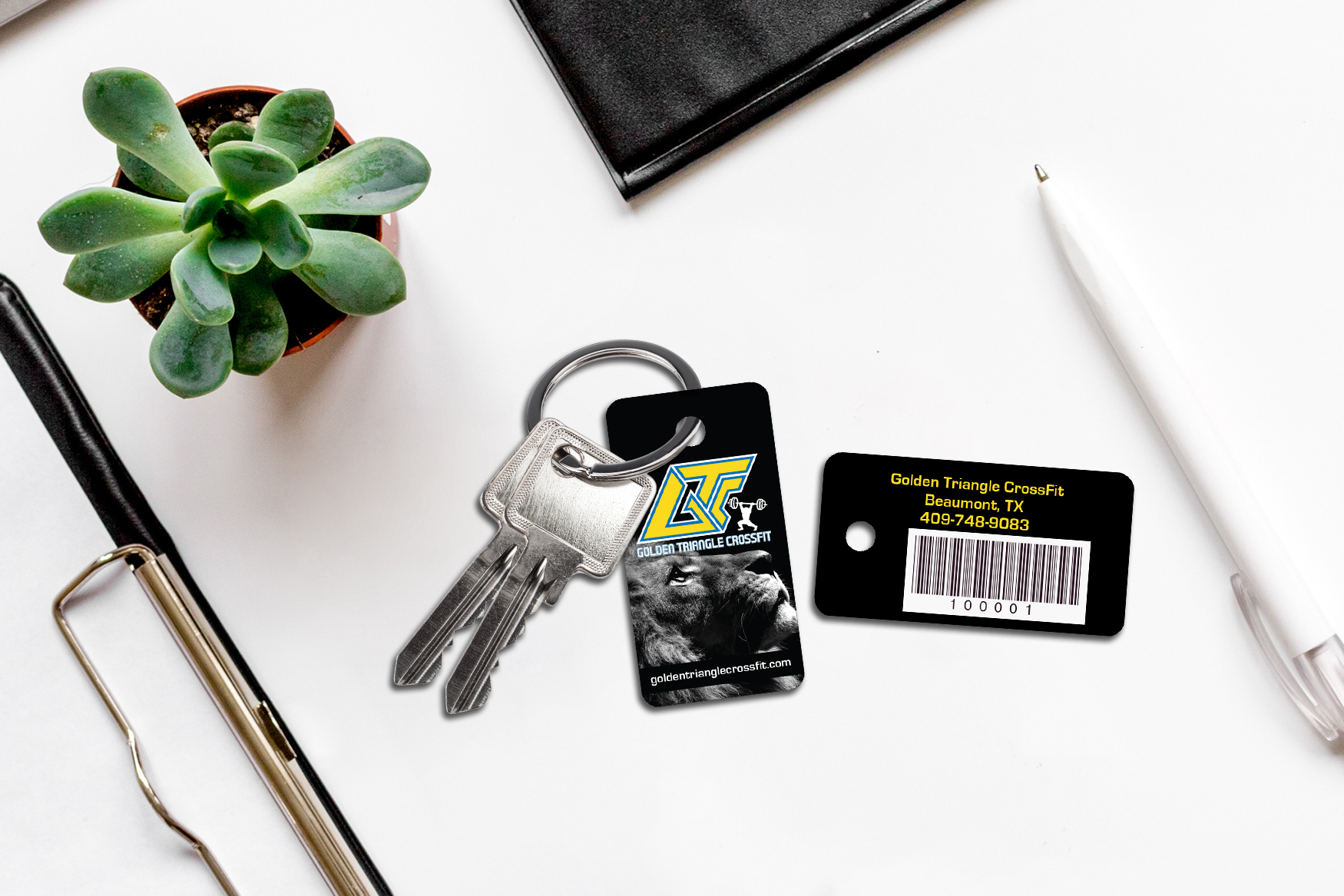 Access Pass for a Gym, Fitness Center or Yoga Studio on Large Key Rings