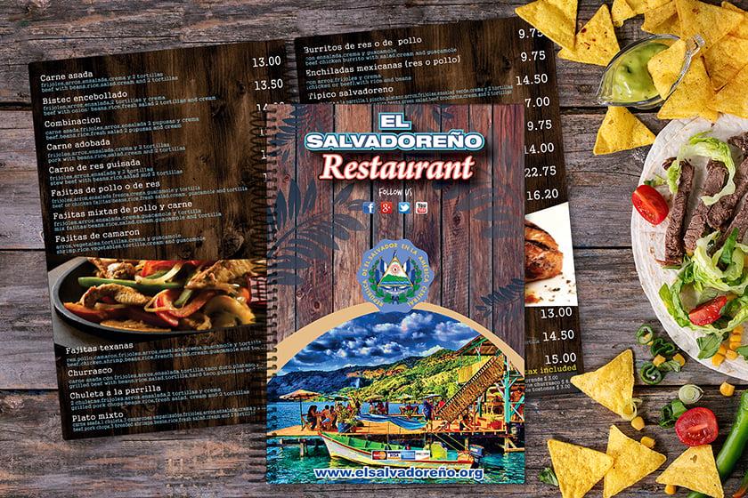 Spiral bound menus