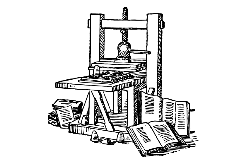The invention of the printing press helped the growth of business cards