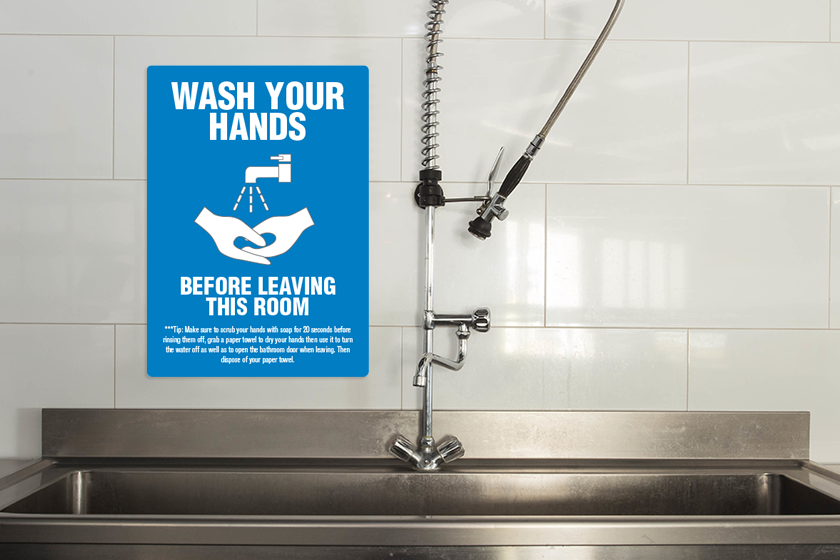 Handwashing signs for a restaurant