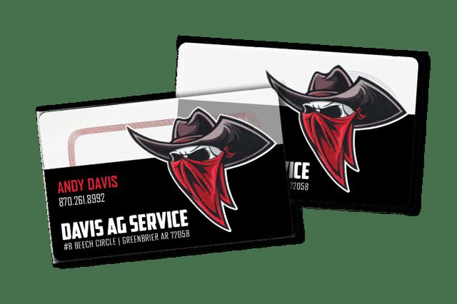 Clear NFC Business Cards for Davis Ag Service