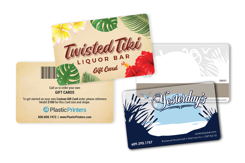 Bar and Pub gift card with a mag stripe on the back