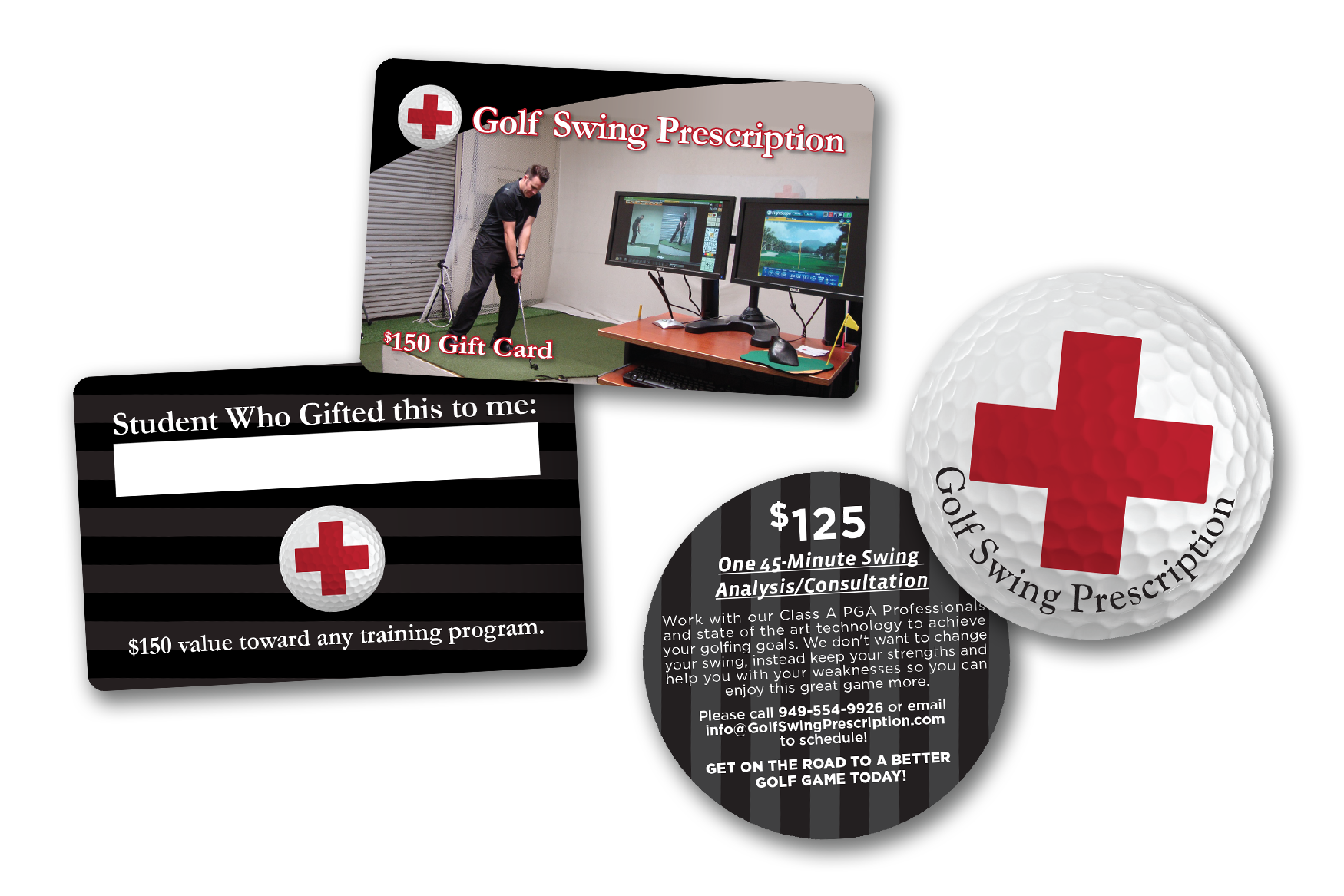 Face Value Golf Gift Cards for Golf Swing Prescription