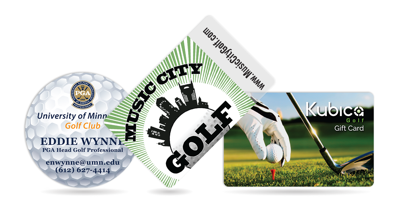 Eye-Catching Golf Cards for your Golf Courses