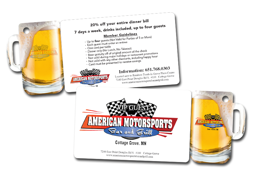 Boost your Restaurant Advertising with VIP Cards, Discount Cards, Combo Cards and Key Tags