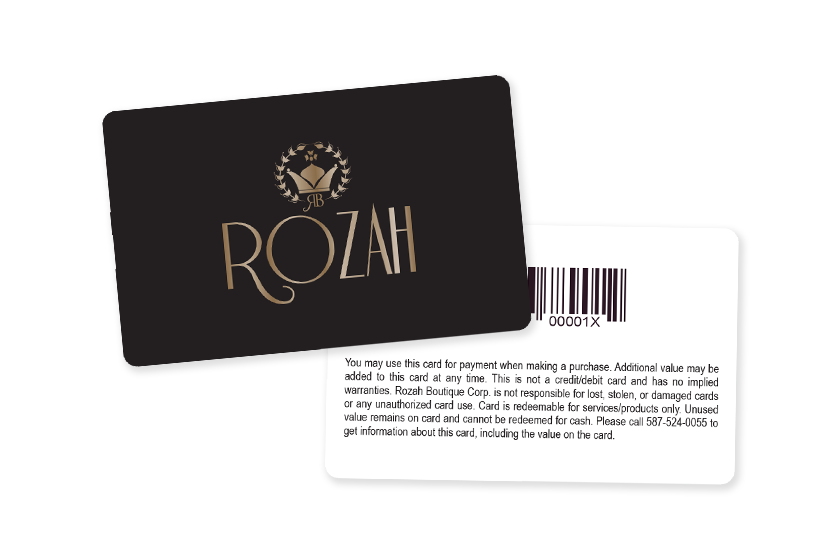 Store Loyalty Cards with Gold Foil and a Barcode