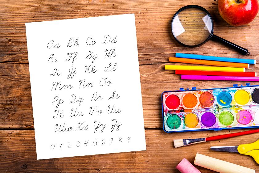 Custom educational tools for learning cursive