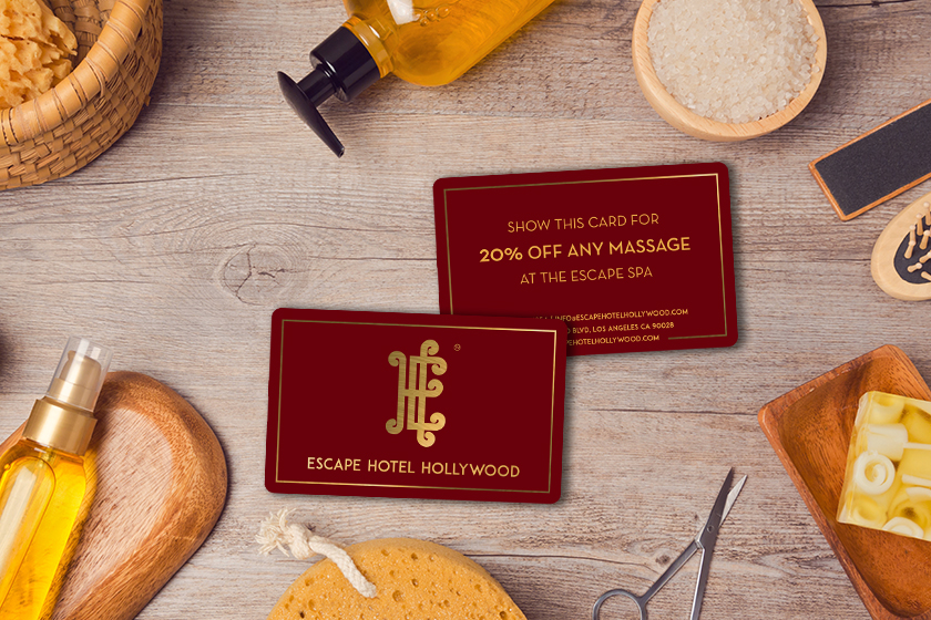 Key Card with Discount for Spa Marketing