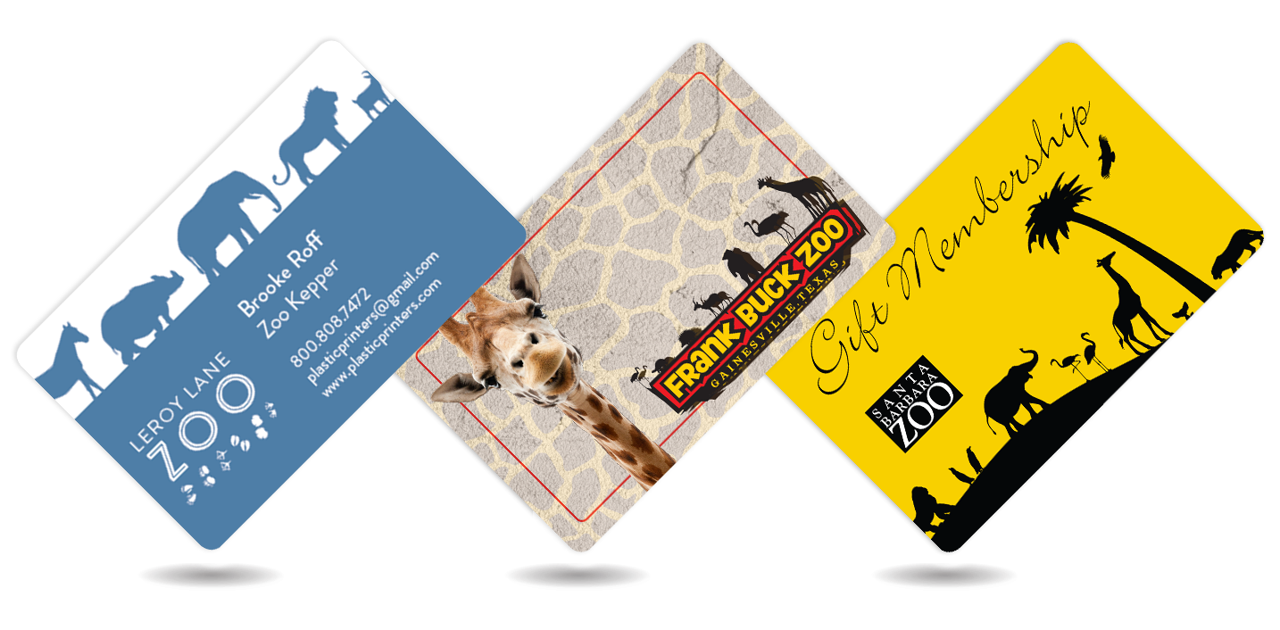 Zoo Business Cards, Membership Cards, & Gift Cards