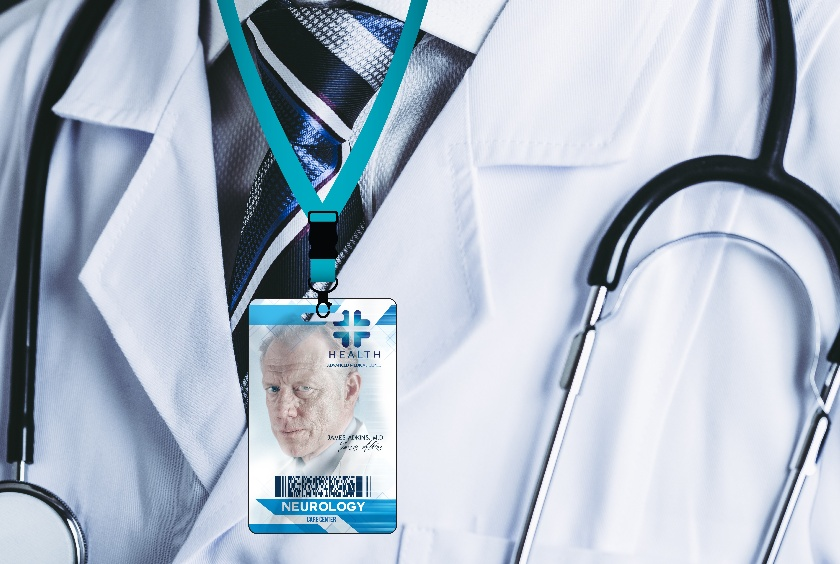 Access cards and doctor id badge