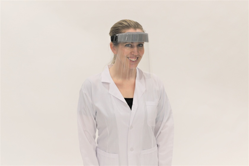 PPE face shields from Plastic Printers