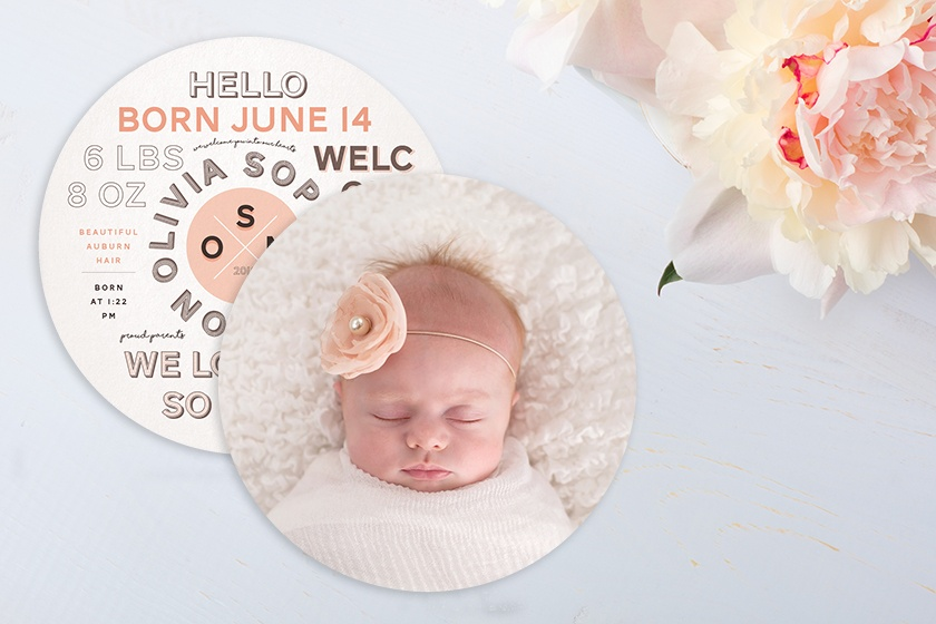 Unique Baby Girl Birth Announcements