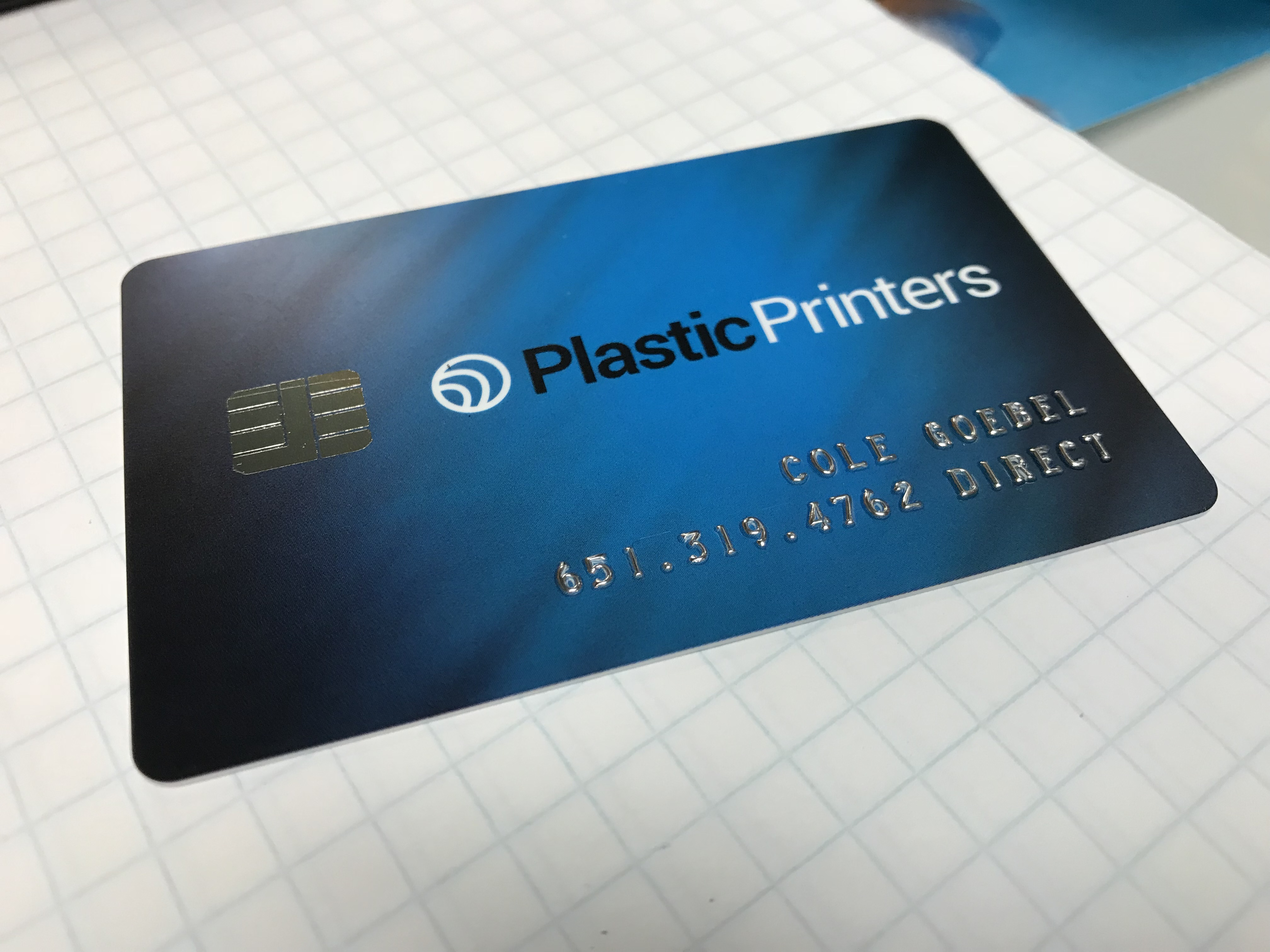 Plastic Business Cards, Leaving Paper in the Trash