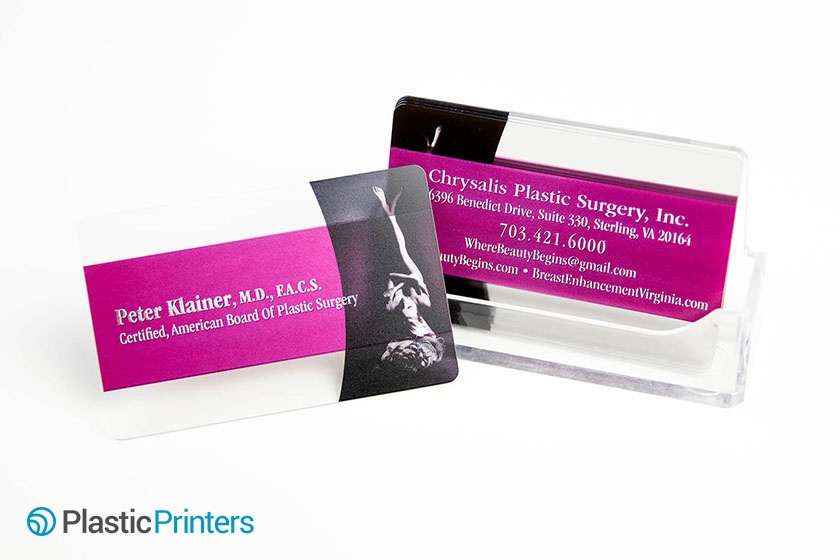 Top 10 plastic surgery marketing ideas business card clear chrysalis plastic surgeryg reheart Gallery