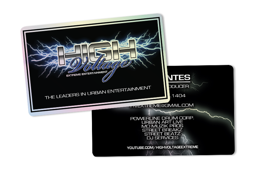 Plastic business cards printed by plastic printers inc entertainment marketing al uses his business card colourmoves
