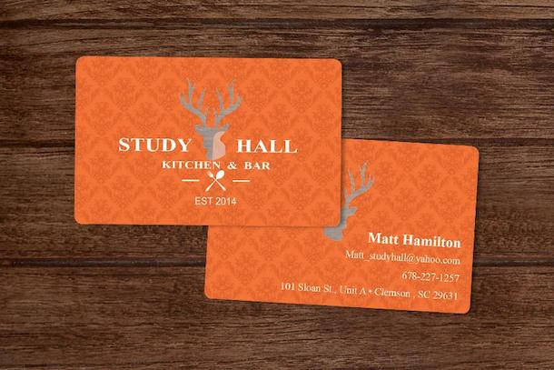 Business Card With Translucent Logo