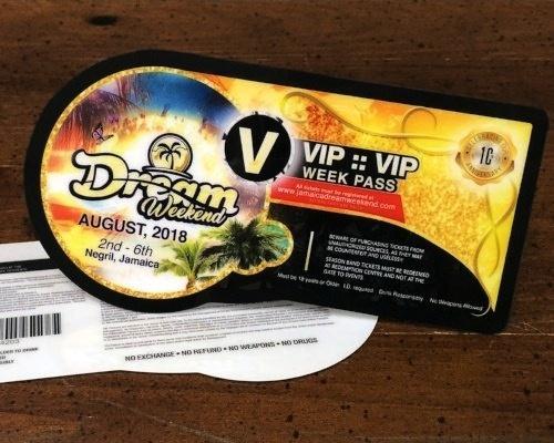 Custom Shape VIP Pass for Dream Weekend