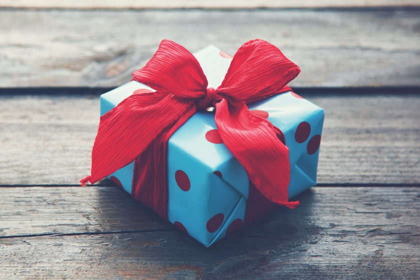 A mystery gift can build hype around your business