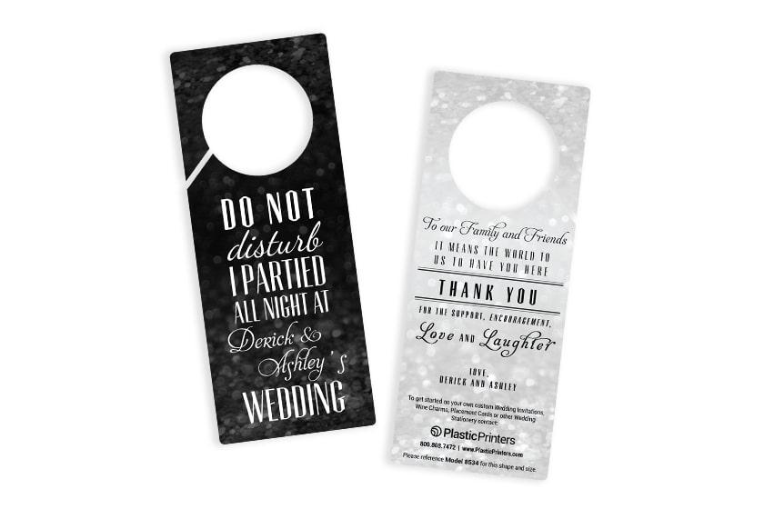 Wedding door hangers - do not disturb
