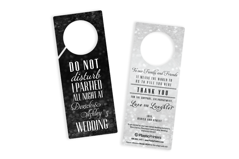 Wedding door hangers - do not disturb