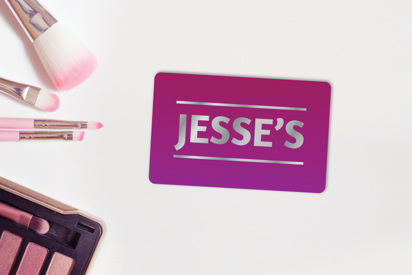 Adding shine is one way to differentiate your gift card design