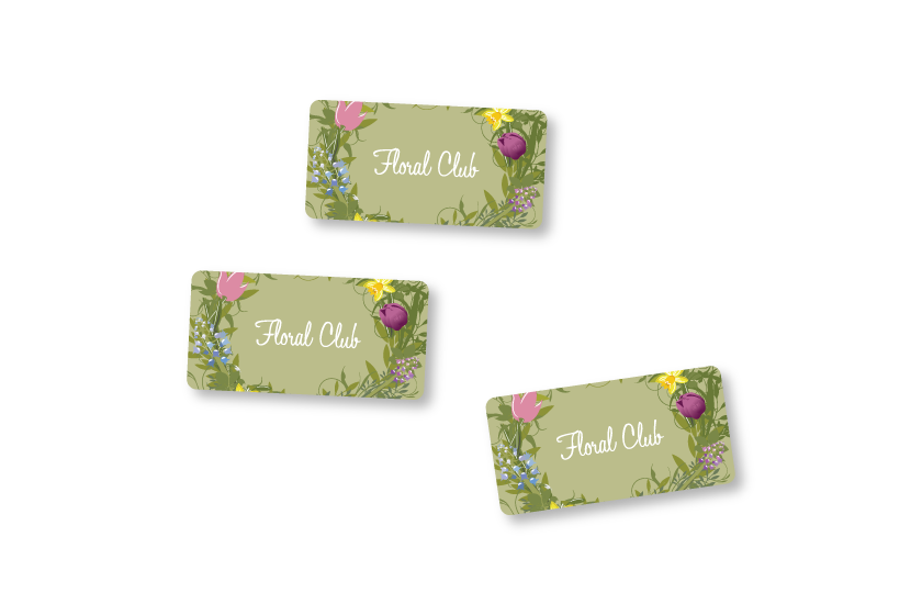 Stickers for sealing wrapped flowers