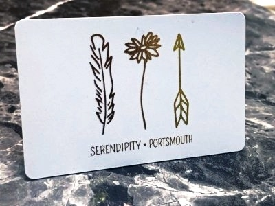 Foil Stamped Business Card for Serendipity - White Business Card