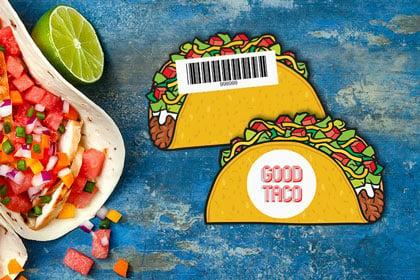 Custom gift card for restaurant