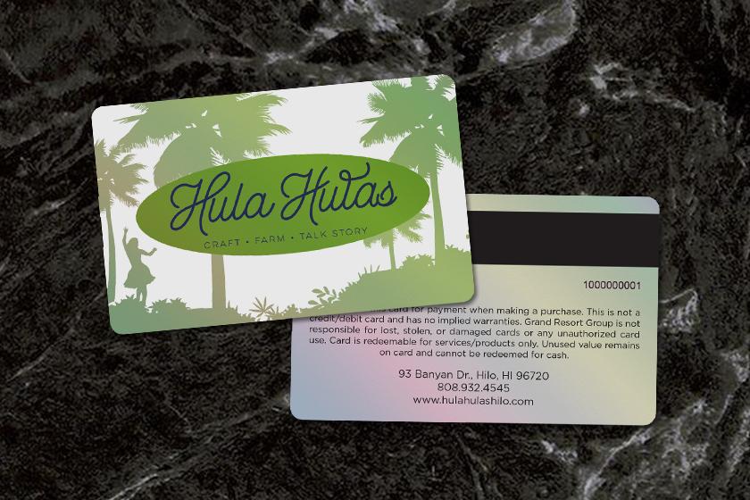 Gift-Card-Mag-Stripe-Platinum-Hula-Hulas-Grand-Resort-Group-HS100527-Black-Marble-Background