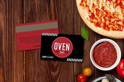 Custom gift cards for a pizzeria
