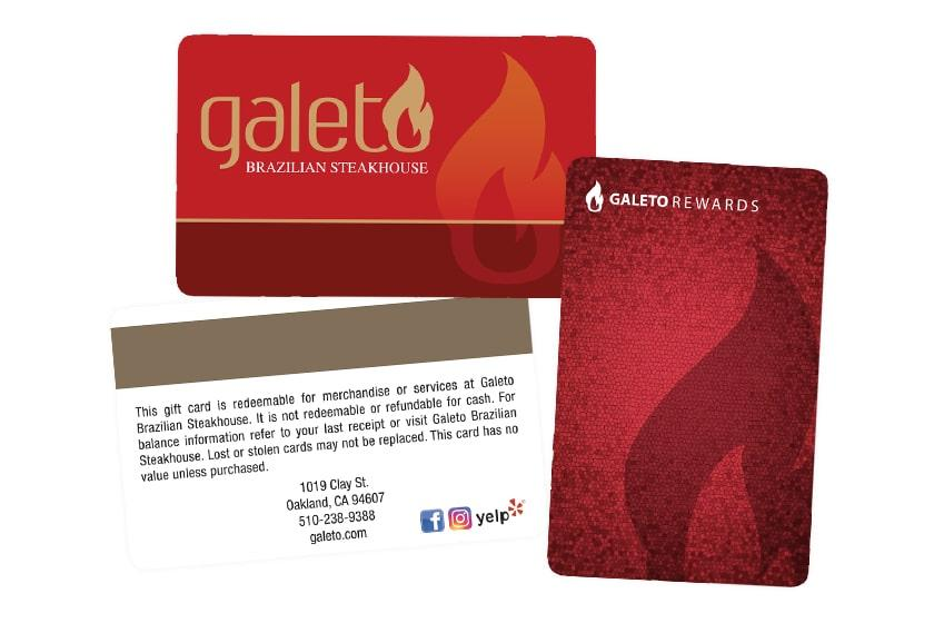 Reward and Loyalty Card for Galeto Brazilian Steakhouse