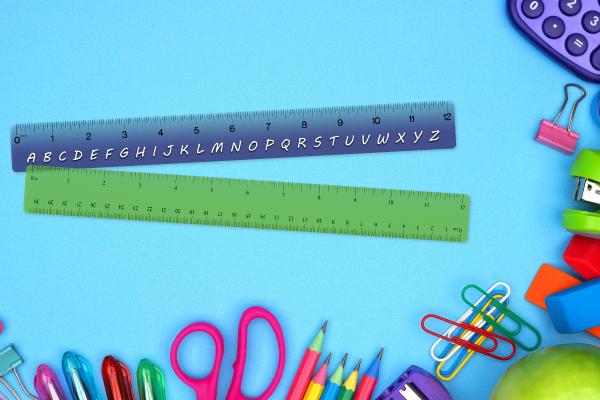 Plastic rulers for schools