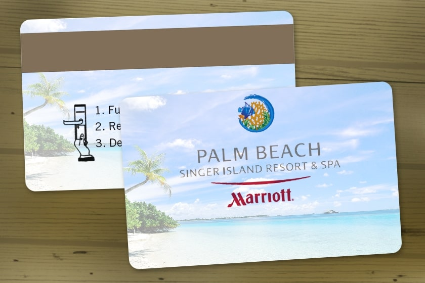 Hotel Room Key for the Marriott with a Magnetic Stripe