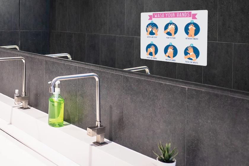 Custom signage like handwashing signs help you communicate with customers