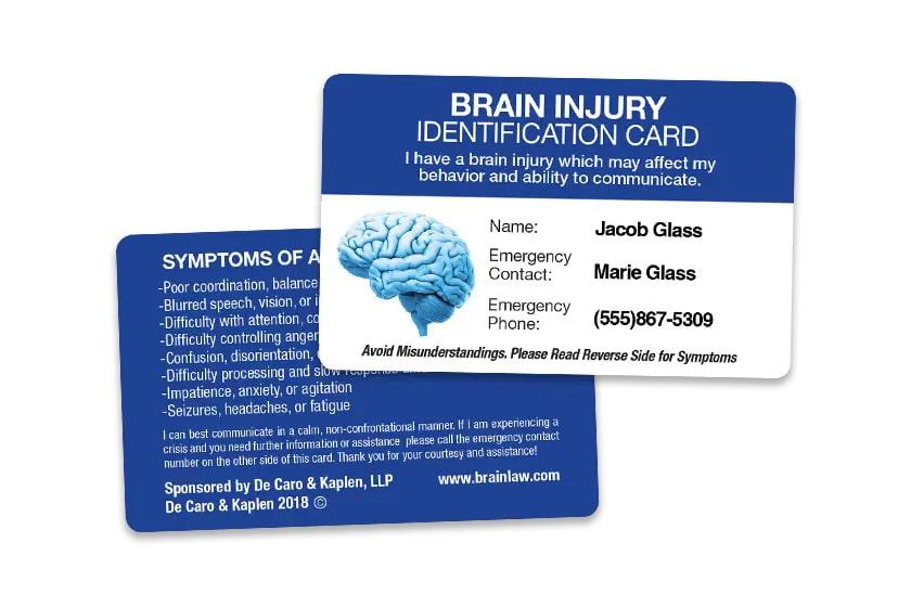 Medical Identification Card for Brain Injuries