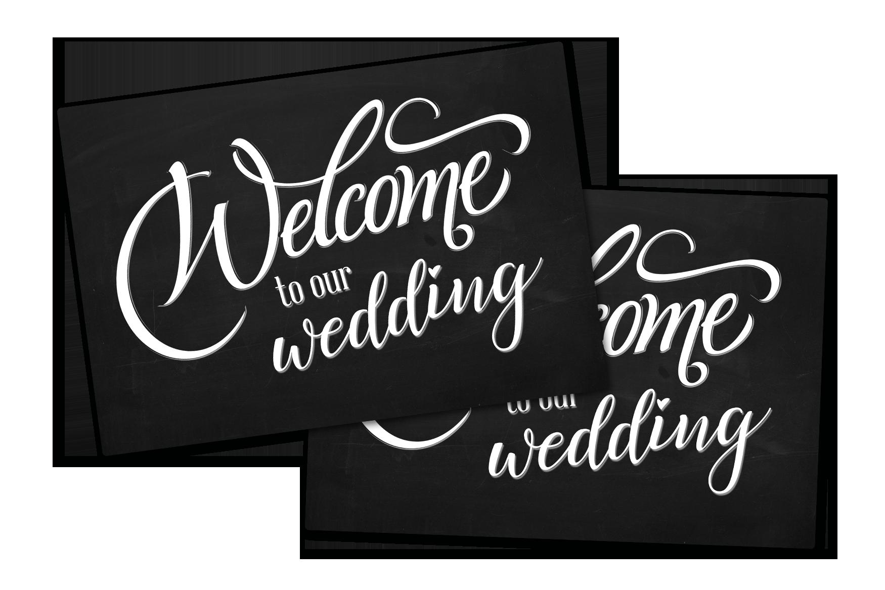 Wedding signs printed by Plastic Printers