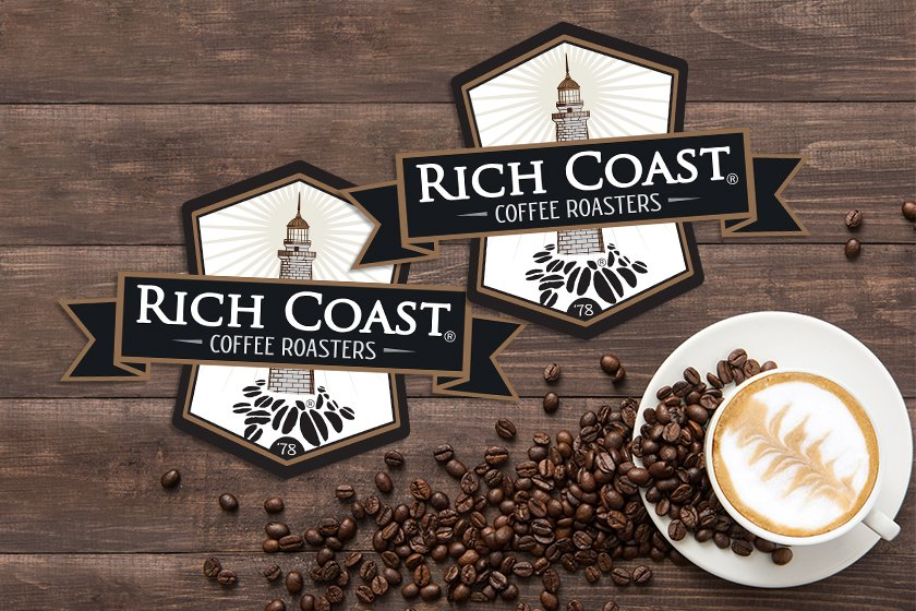 Die cut signs for a coffee shop