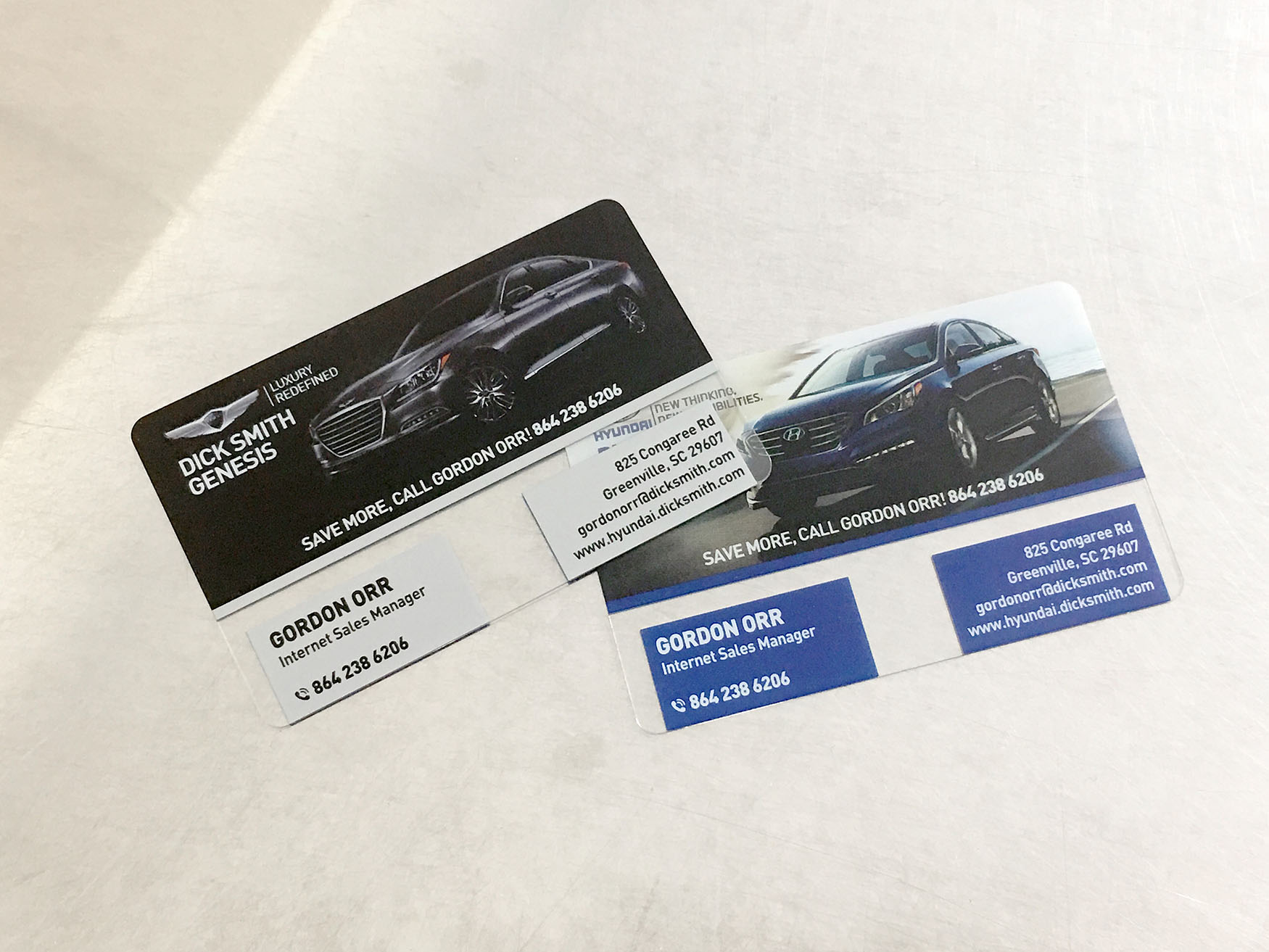Dick Smith Auto Dealership Business Cards
